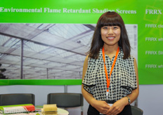 miss Bella Wang from Shanghai Farm Garden Green Engineering.