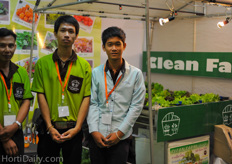 Clean Farm Thailand was also promoting the hydroponic gutter systems.