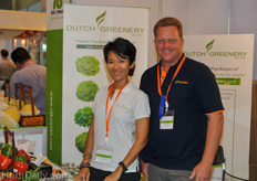 Thanida Anantakul and Wim Damsteegt from Dutch Greenery.