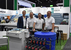 Thomas Ruiter & Menno Keppel with A.S.A. provide technical solutions made suit for the Southeast Asian industry, including various Sercom products, shown by Ignacio Rodriguez * Jan-Willem Lut