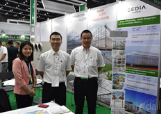 Nguyen Thi Thanh, Kazuhide Hama & Fancong Meng with the Japanese greenhouse supplier Sedia System.