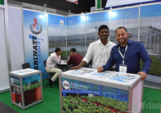 Alessandro Mazzacano from Urbinati has talked non-stop for three days. In the photo with Shivaprasad, a friend from the tissue culture industry.