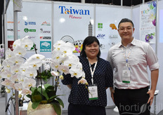 Patty Chen & Joe Lip with Taiwan Flowers, uniting the Taiwanese industry.