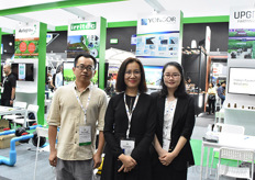 Zoe Zhang & Daisy of Yongor, manufacturer of shading screens & netting solutions, brought their new colleague Jackie Ma.