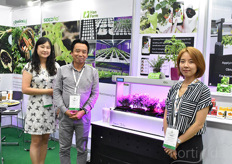 In the photo Taeha Woo & Jemma Chon, showing the Han Farm & SeedMO products.