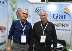 Kuti Sulimani & Michael Boehm with Gat Fertilizers. The company offers the grower a full range of solid water soluble and liquid fertilizers