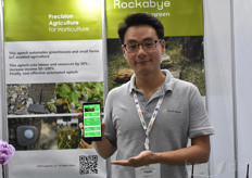 Clement Lee with Hugreen. His product Rockabye offers a precision agriculture solution for growers, cutting labour and resources by 30%.