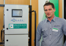Wout van Dijck from Spranco-Matic, Aquaox distributor in Belgium.
