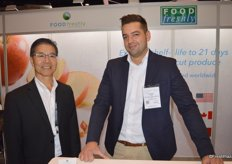 Gordon Nobuto and Benjamin Singh with Food Freshly