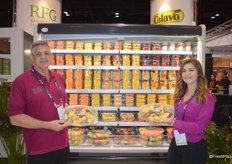 Phil Fendyan and Caitlin Merrill with Renaissance Food Group proudly showing RFG's wide selection of fresh- cut produce.