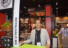 Ricardo Hernandez with Royalhalo from Mexico exhibits in the Mexico Pavilion.