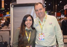 Mariana Palma Camarena and Guillermo Cardenas with Coliman Produce are part of the Mexico Pavilion.