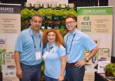 Baltazar Garcia, Maryam Nikkhah and Travis Roderick with Pete's Living Greens.