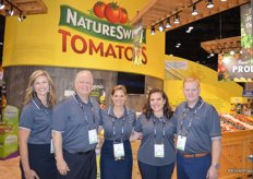 The team of NatureSweet Tomatoes. From left to right Carla Conte, Jim McErlean, Olivia Storvik, Lori Castillo and Chad Hershey.