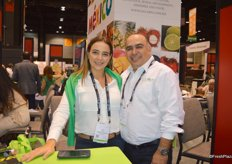 Erika Anguiano and Antonio Gudino with Colimex Tropical Fruit.