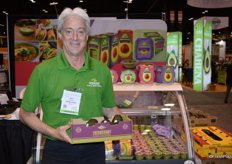 Mark Schweihs with Freshcourt shows a new 2 kilogram box of avocados.
