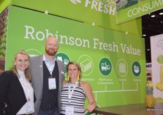 Liz Erickson Monson, Ryan Sugrue and Zoe Maas with Robinson Fresh.