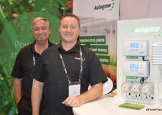 Kevin Blackmore and Mike Blomerley with Autogrow