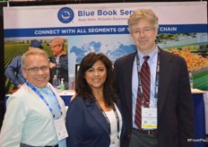 Jeff Lair, Leticia Lima and Dough Nelson with Blue Book Services.