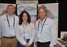 Tom Rawles, Leslie Simmons and Vince Ferrante with Dave's Specialty Imports.