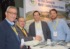 Ali Elissiqui and Brahim Boutgueray from Anouar Invest, at the Fall Creek stand with Cort Brazelton and Olivier Coste.