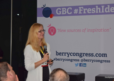 Agnieszka Orzel from Niwa Berry Consulting during her presentation; Raspberries-Is Black the New Pink?
