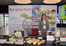 Regine Leone at the Carton Pack stand.