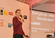 Kathrin Längert, former soccer player, closes the day. Her message: Never give up!